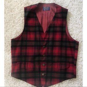 Vintage Virgin Wool Plaid PENDLETON Vest